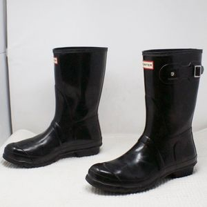 Hunter Boots Original Short Black Gloss Size 11